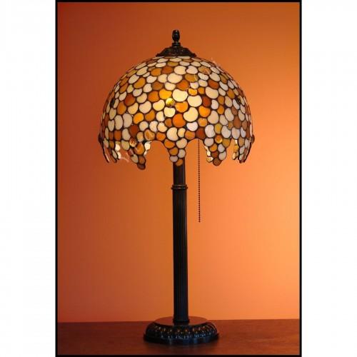 Vitrážová stolní lampa Leška 30, Ø30