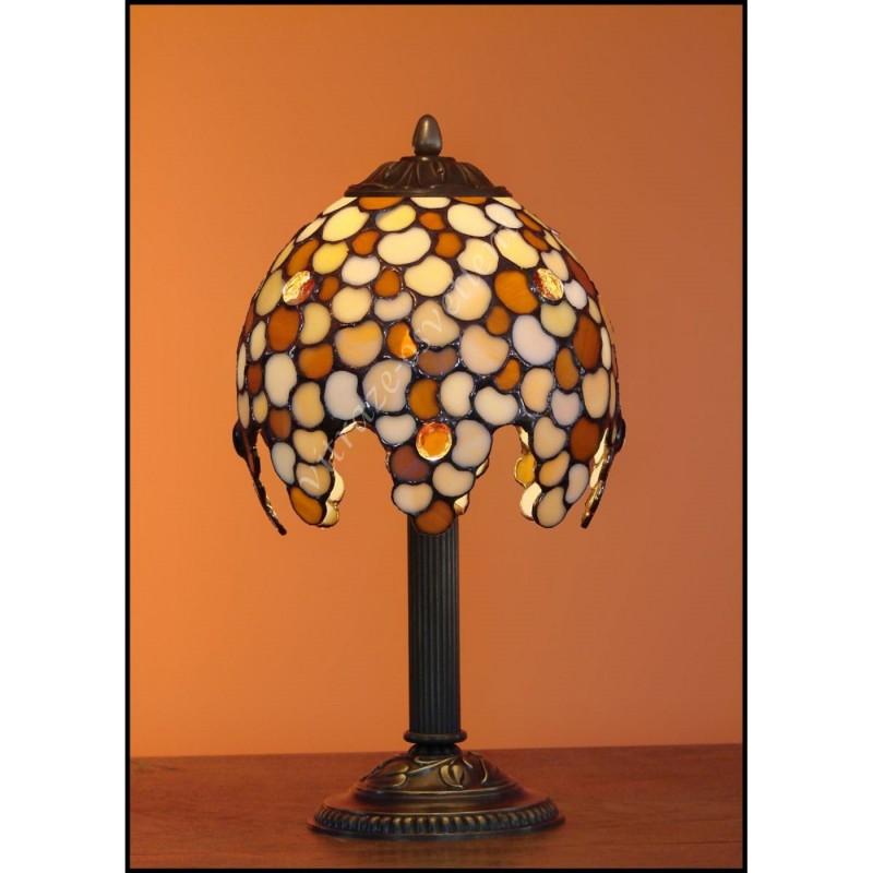 Vitrážová stolní lampa Leška 18, Ø18