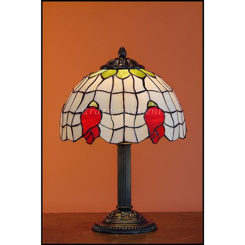 Vitrážová stolní lampa poupě 23