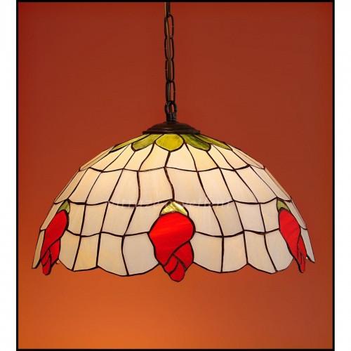 Lustr vitrážový závěsný Poupě 40