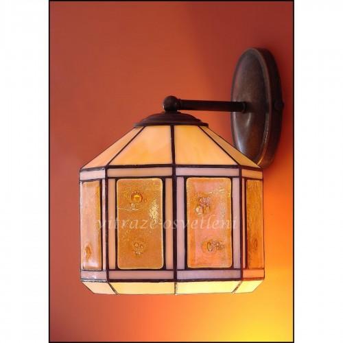 Vitrážové nástěnné svítidlo Tusarf N20