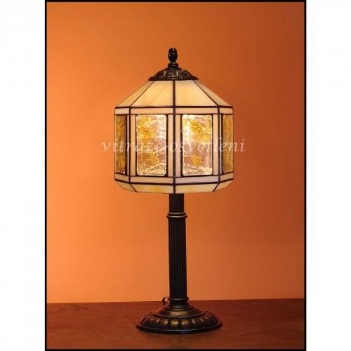 Vitrážová stolní lampa Tusarf S20
