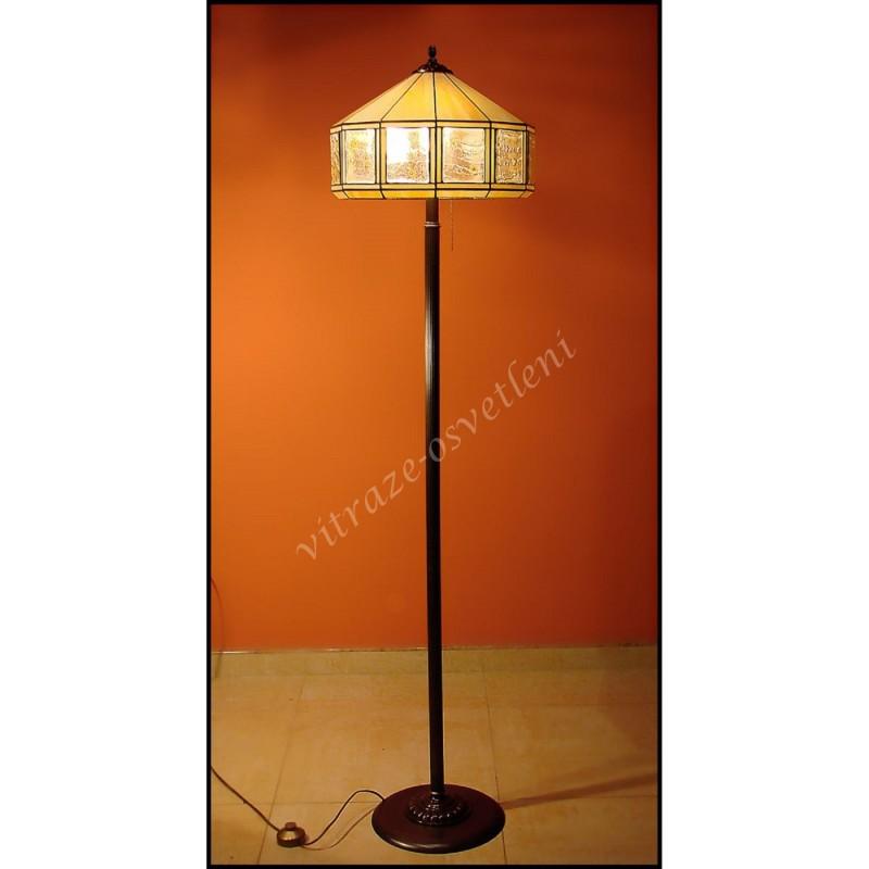 Vitrážová stojací lampa Tusarf ST40