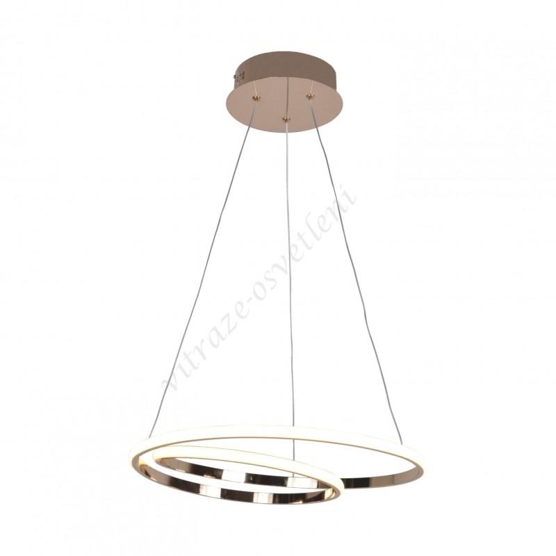 Lustr závěsný LED KI-8048 Iluze Zlato-45W/3150 lm