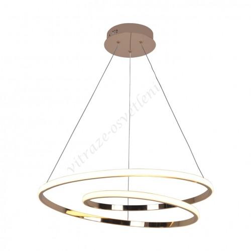 LED lustr závěsný KI-8050 Iluze zlato-60W/4200 lm
