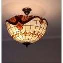 Vitrážové stropní svítidlo Baroko Káry- S 40