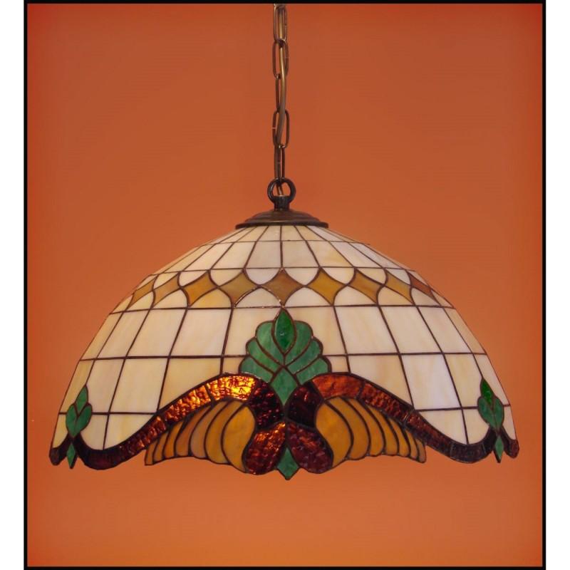 Vitrážový lustr Baroko Káry- Z 40