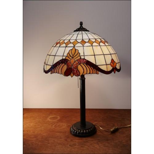Vitrážová stolní lampa Baroko Káry- ST 40