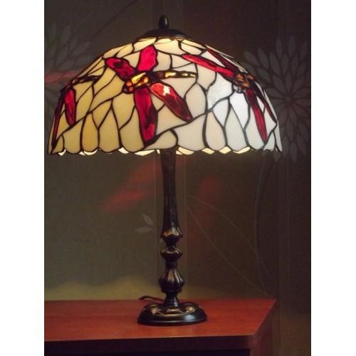 Vitrážová stolní lampa Vážky 34