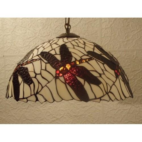Vitrážový lustr Vážky 40