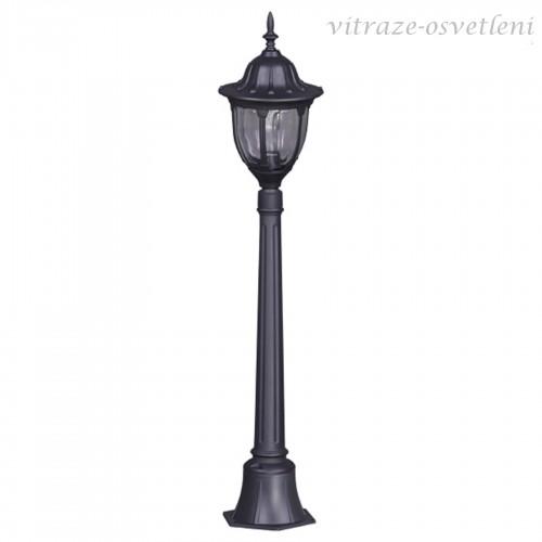 Venkovní stojanová lampa 16007AV, v.115 cm, 1xE27/60W, černá a černo-zlatá