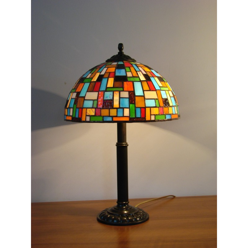 Vitrážová stolní lampa Moza 30S, 40S