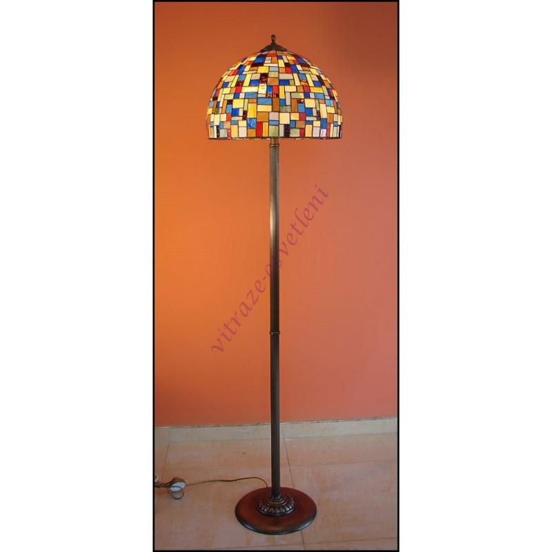 Vitrážová stojací lampa Moza 40ST