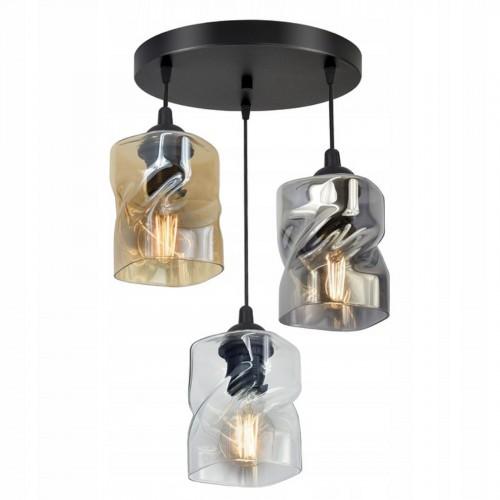 Moderní závěsný, stropní lustr LUX820-EXZ3, skleněná stínidla