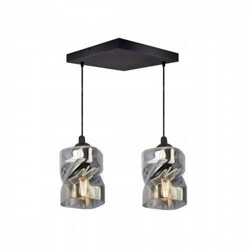 Moderní závěsný, stropní lustr LUX820-AXZ2, skleněná stínidla