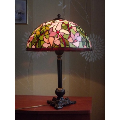 Vitrážová stolní lampa PSMa Ø40, 58 cm