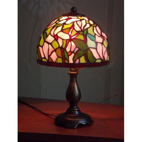 Vitrážová stolní lampa PSMa Ø17, 33 cm