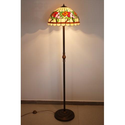 Vitrážová stojací lampa Macešky 40 L2AL(VO)