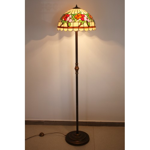 Vitrážová stojací lampa Macešky 40 L2AL