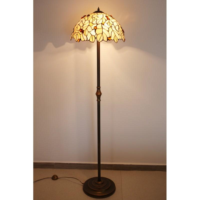 Vitrážová stojací lampa s jantarem L2PLD 50