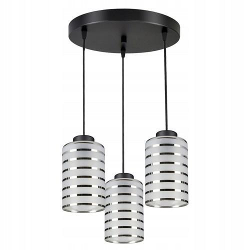 Moderní závěsný, stropní lustr LUX850-EXZ3, skleněná stínidla