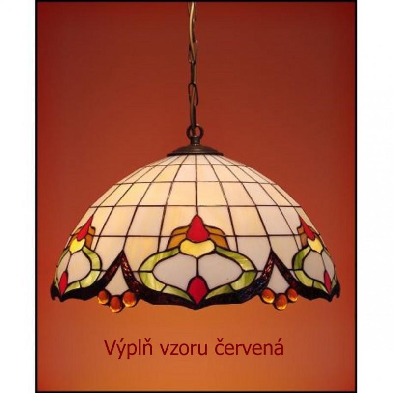 Vitrážový závěsný lustr Rokaj 50, Ø50 (VO)
