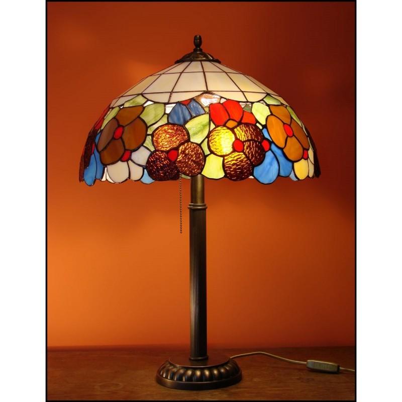 Vitrážová stolní lampa Macešky M 40-S3 Ø40