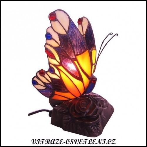 Dětská lampa Tiffany motýl M1