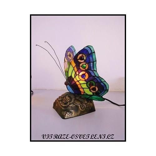 Stolní lampa Tiffany motýl M2